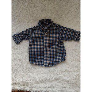 Baby Boy Flannel Dress Shirt Ish Kosh B'gosh 3/6 M